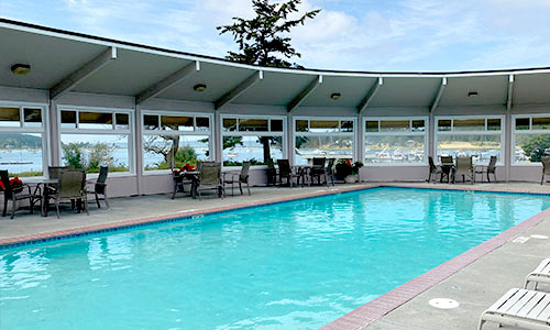 Lopez Island poolside party venue
