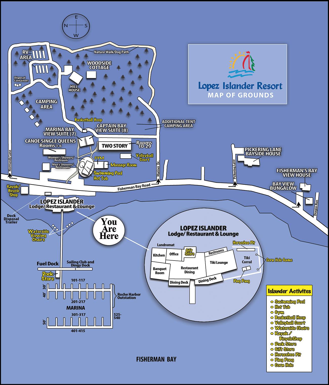 Grounds Map for Lopez Islander Resort